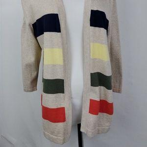 Talbots cardigan Lg stripes knit sz LP